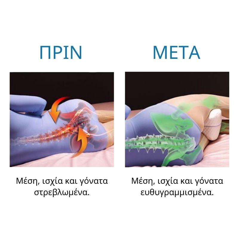 Ανατομικό Μαξιλάρι Διαχωριστικό Ποδιών Ύπνου με Αφρό Μνήμης Leg Pillow Memory Foam