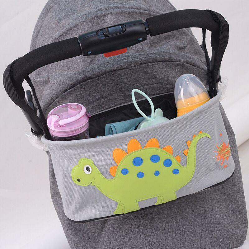 Οργανωτής Τσάντας Ιδανικό για Βρεφικό Καρότσι με Θήκες για Μπιμπερό - Diaper Organizer Bag Stroller Organizer With Cup Holders - Pink elephant